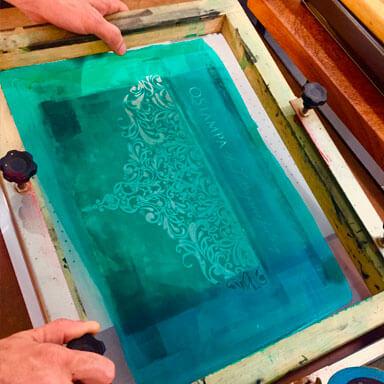 Workshop de Silk Screen Printing - Serigrafia   Técnicas de estamparia de tinta sobre tela para papel e tecido